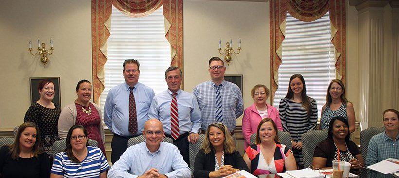 DE Governor Carney with Social Studies teachers