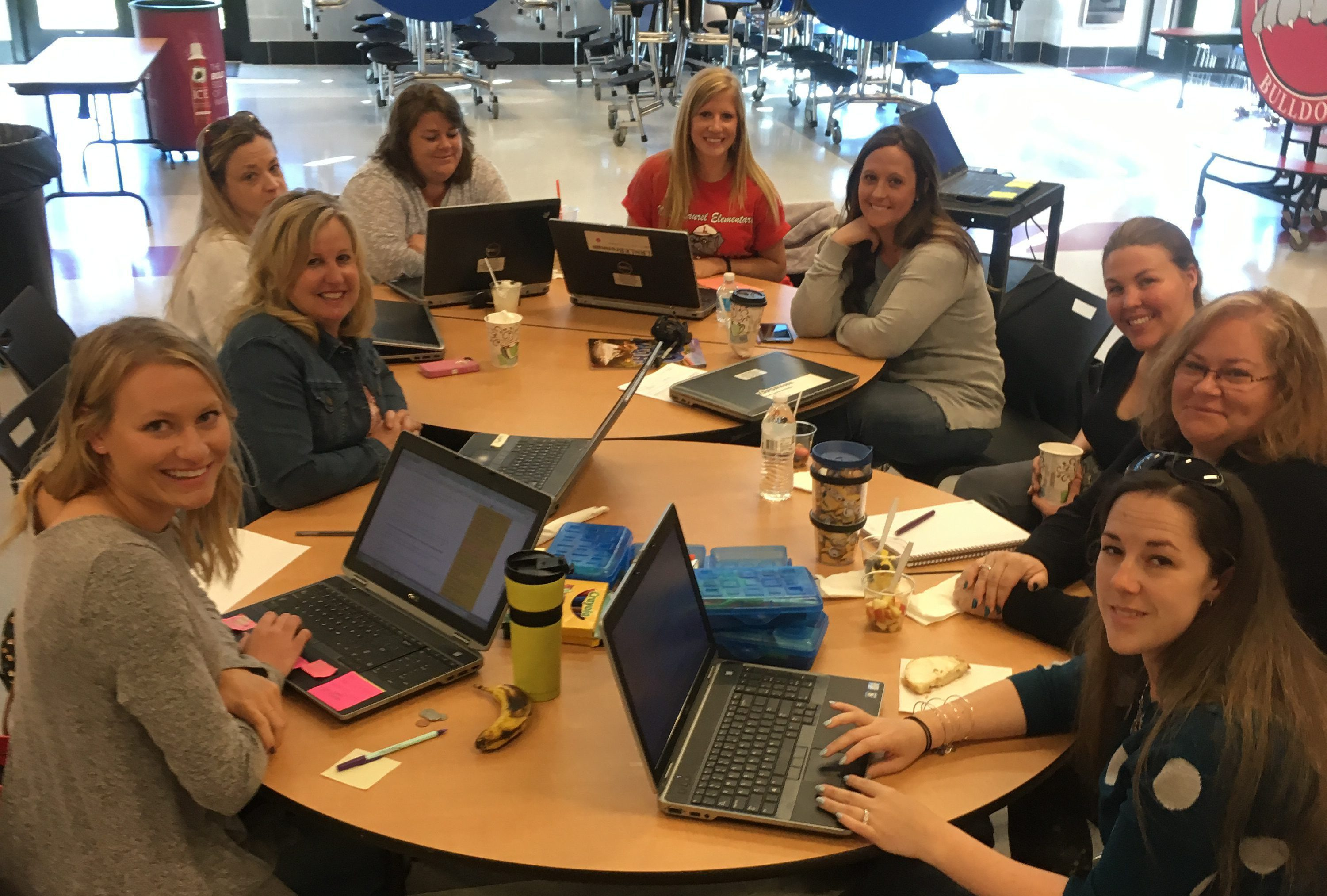 Teachers working and planning together